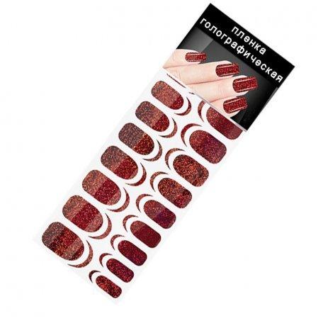 Пленка для ногтей Master-beauty R-01-01,красный,песок