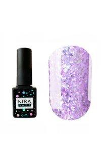 Гель-лак Kira Nails Shine Bright №007 (світло-фіолетовий з блискітками), 6 мл
