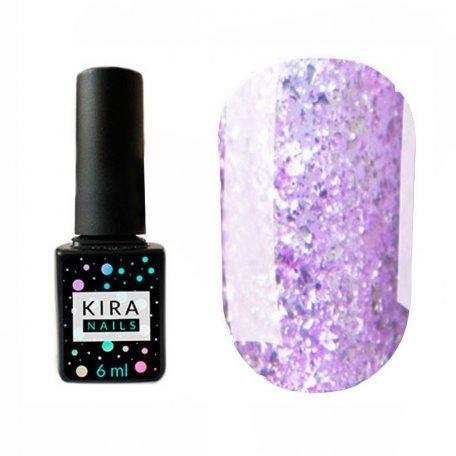 Гель-лаки Kira Nails Shine Bright 6 мл - Гель-лак Kira Nails Shine Bright №007 (светло-фиолетовый с блестками), 6 мл