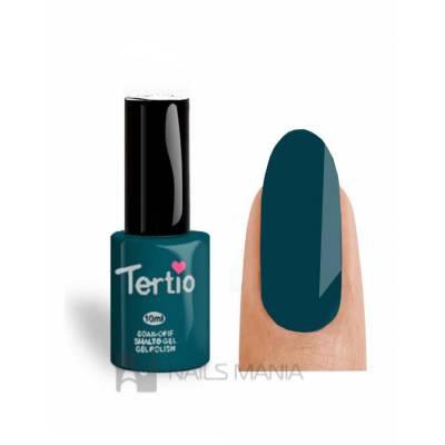 Гель-лак Tertio №024 (Темно-зеленый, эмаль), 10 мл