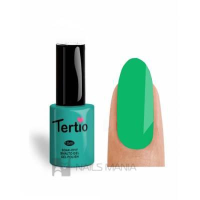 Гель-лак Tertio №027 (Мятно-зеленый, эмаль), 10 мл