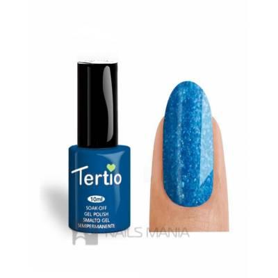 Гель-лак Tertio №076 (Синий, микроблеск), 10 мл