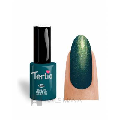 Гель-лак Tertio №153 (Зеленый, микроблеск), 10 мл