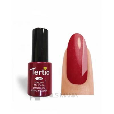 Гель-лак Tertio №156 (Красно-розовый, микроблеск), 10 мл