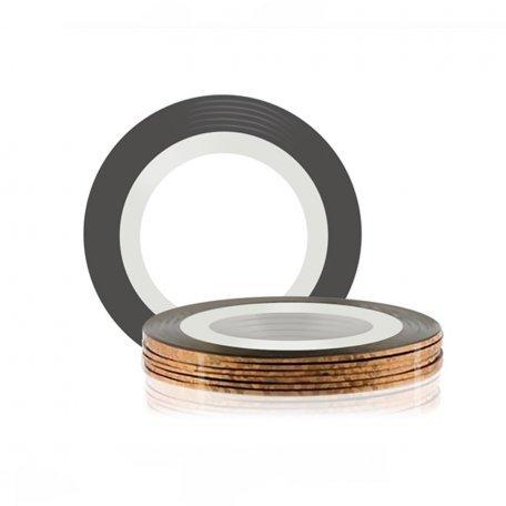 Лента для ногтей - Лента глянцевая для дизайна ногтей, цвет Braun Laser, 1 мм