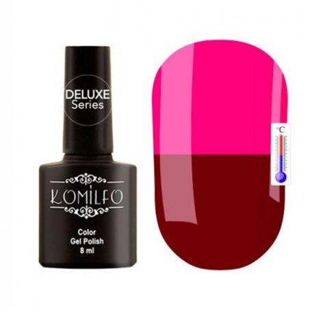"Гель-лаки Komilfo ""Deluxe Termo"" (Делюкс Термо) 8 мл - Гель-лак Komilfo DeLuxe Termo №C006 (темно-вишневый, при нагревании — ярко-розовый), 8 мл"