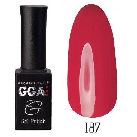 Гель-лак GGA №187 (Бордовый), 10 мл