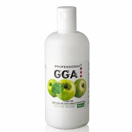 Базы, топы, вспомогательные средства GGA - Средство для снятия гель-лака GGA Professional 500 мл (Яблоко)