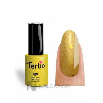 Гель-лак Tertio №190 (Насыщенный золотистый, блестки), 10 мл