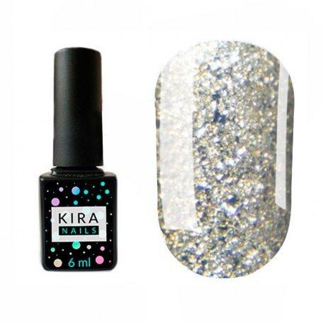 Гель-лаки Kira Nails Shine Bright 6 мл - Гель-лак Kira Nails Shine Bright №003 (белое золото с блестками), 6 мл