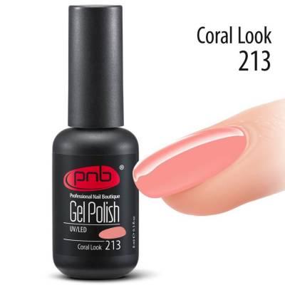 Гель-лак PNB 213 Coral Look (Нежно-коралловый), 8 мл