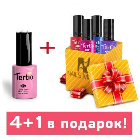 Гель-лаки Tertio 10 мл (основная палитра) - Набор гель-лаков Tertio 4+1 в подарок