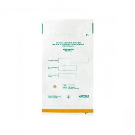 Пакеты для воздушной стерилизации 100х200мм (белые) из крафт бумаги 1шт