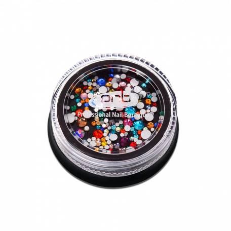 Купить Стразы для дизайна ногтей PNB, Colorful mix size 200 шт