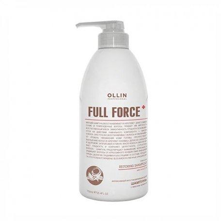 Интенсивный восстанавливающий шампунь с маслом кокоса OLLIN 750 мл