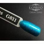 Купити Гель-лак Komilfo DeLuxe Series №G031 (бірюзовий, микроблеск), 8 мл