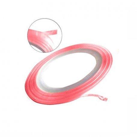 Лента для ногтей - Лента-скотч для ногтей (розовая матовая), 1 мм