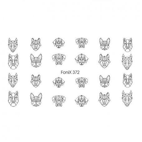 Слайдер дизайн для ногтей  FoniX 372
