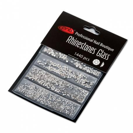 Купить Стразы для дизайна ногтей PNB, Crystal mix size 1440 шт