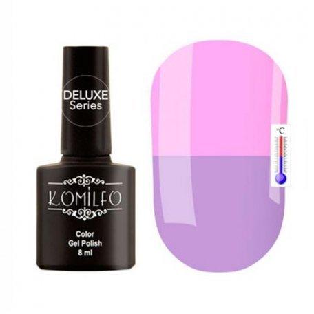 """Гель-лаки Komilfo """"Deluxe Termo"""" (Делюкс Термо) 8 мл - Гель-лак Komilfo DeLuxe Termo №C012 (светло-сиреневый, при нагревании лилово-розовый), 8 мл"""