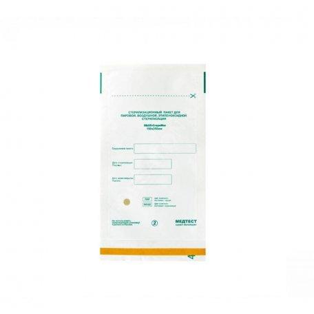 Пакеты для воздушной стерилизации 100х250мм (белые) из крафт бумаги 1 шт