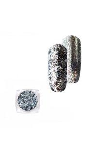 """Хлопья """"Юки"""" для декора ногтей Master-Beauty, (серебряные) 2 г"""