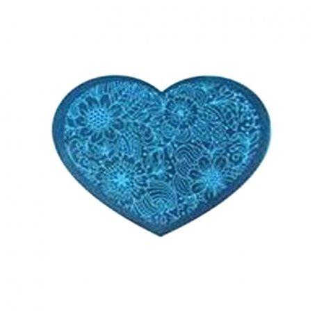 Пластина-трафарет для стемпинга YRE №10 металл, сердце