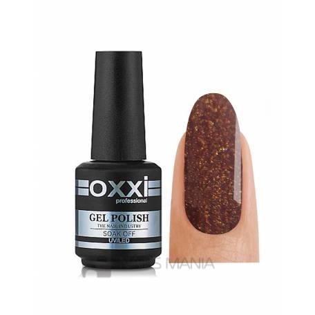 Гель-лак OXXI №144 (Темно-коричневый с микроблеском), 10 мл