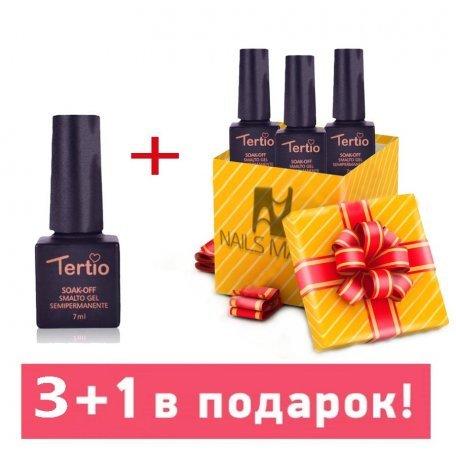 Гель-лаки Tertio 7 мл - Набор гель-лаков Tertio 3+1 в подарок