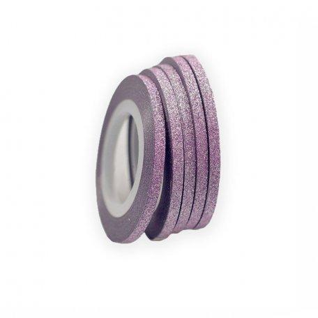 Лента для дизайна ногтей в рулоне (бархатная сиреневая), 1 мм