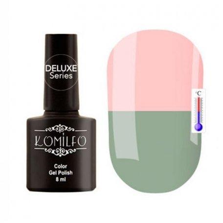 """Гель-лаки Komilfo """"Deluxe Termo"""" (Делюкс Термо) 8 мл - Гель-лак Komilfo DeLuxe Termo №C002 (бледный, серо-зеленый, при нагревании — розовый), 8 мл"""