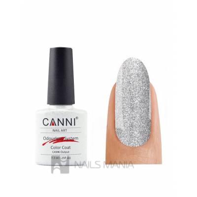 Гель-лак CANNI №215 (мелкие серебристо-голографические блестки) 7.3 мл.