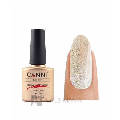 Гель-лак CANNI №219 (светлое золото с мерцающим блеском) 7.3 мл.