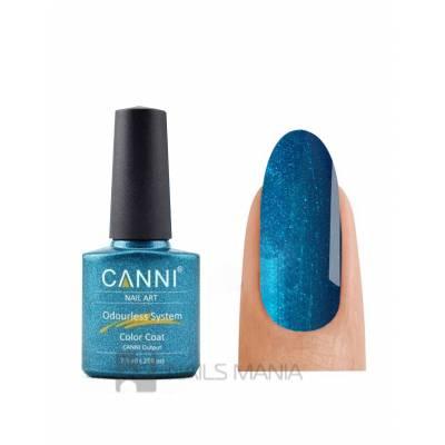 Гель-лак CANNI №221 (темно-голубой с мелкими блестками) 7.3 мл.