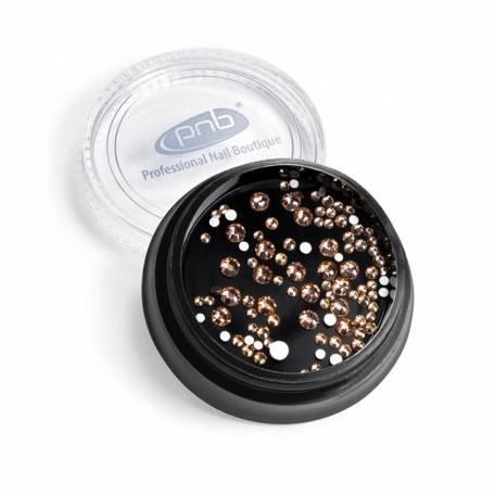 Купить Стразы для дизайна ногтей PNB, Champagne mix SS3,5,10 100 шт