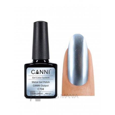 Купить Гель-лак зеркальный CANNI №704 голубое 7.3 мл.